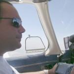 Pilotando una PA-28 Archer II camino a Logroño