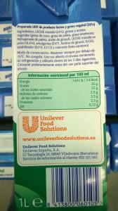 Ingredientes del preparado lácteo Krona