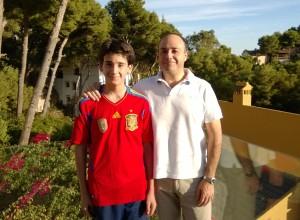 Mi hijo Pablo y yo a mediados de 2014