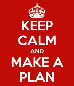 Mantén la calma y crea un plan para adelgazar