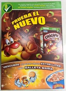 Diseño de la caja de cerales Nestlé Chocapic