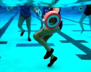 Practica ejercicio en el agua