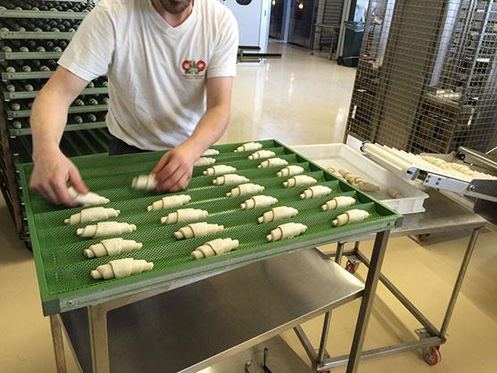 Producción de Croissants bajos en carbohidratos