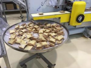 Detalle del empaquetado del pan tostado Ciao Carb
