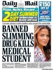 El Daily Mail publica artículos sobre nutrición