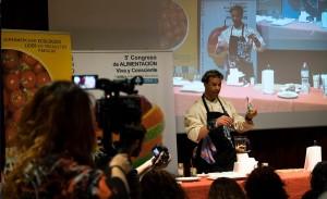 Show Cooking en el congreso de alimentación Viva y Consciente