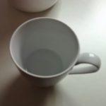 Llenamos 1/4 de taza con agua fría