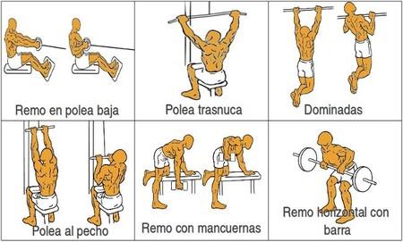 Ejercicios específicos de espalda