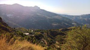Vistas desde la subida al puerto de La Cabra, entre Almuñecar y Granada