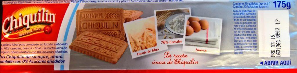 Falsos claims de las galletas Chiquilin 0% azúcares