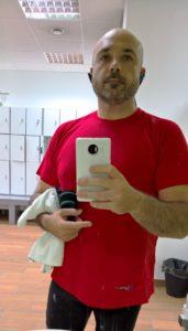 Un día más en el gimnasio para ejecutar mi rutina de ejercicios