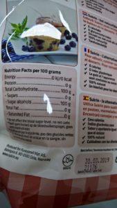 Valores nutricionales Sukrin