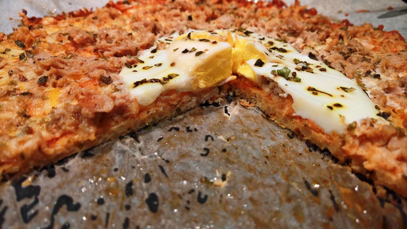 Pizza baja en carbohidratos con coliflor