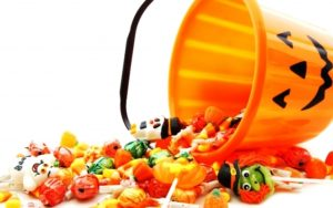 Golosinas saludables en halloween